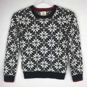 Lands End Boys Holiday Sweater Black/White size 7